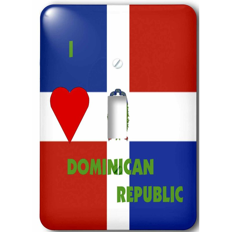 3drose I Love Dominican Republic 1 Gang Toggle Light Switch Wall Plate Wayfair
