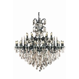 Rosdorf Park Cherie 30-Light Traditional Candle Style Chandelier