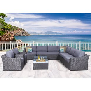 Longshore Tides Cambra Olefin 11 Piece Conversation Set with Cushions