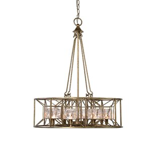 Look for Edgar 8-Light Drum Chandelier By House of Hampton