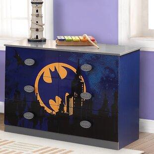 Batman 6 Drawer Double Dresser by O'Kids Inc.