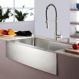 Kitchen Combos 33 L x 21 W Single Basin Farmhouse/Apron Kitchen Sink with Faucet