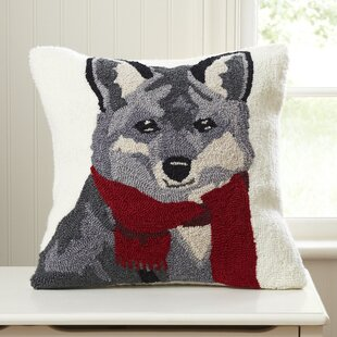 StowtheWold Fox Hooked Pillow