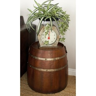 Metal Barrel End Table