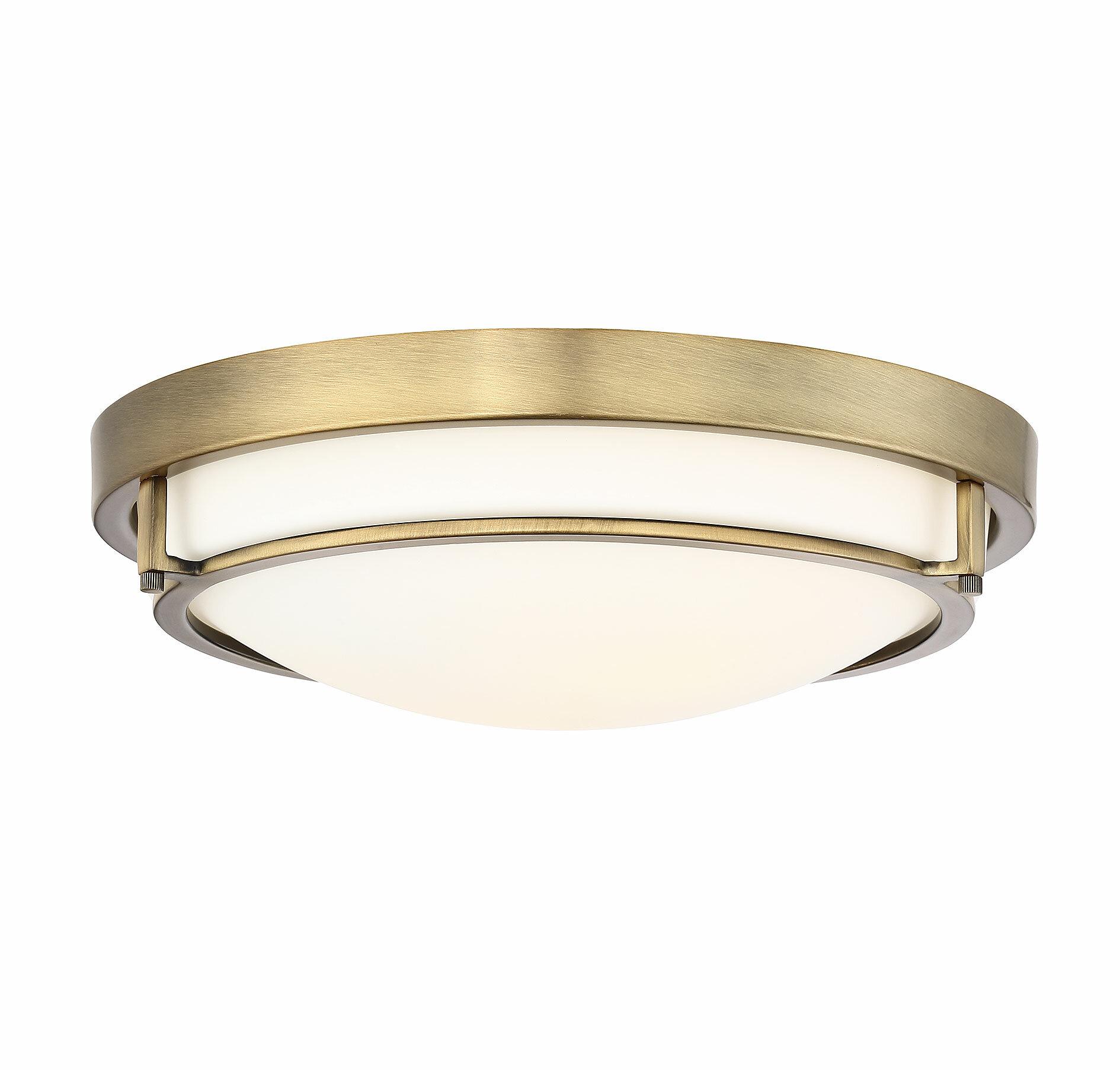 Joss Main Cambron 2 Light 13 Simple Bowl Flush Mount Reviews Wayfair