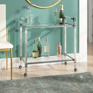 Kolar Modern Glass Bar Cart by Mercer41