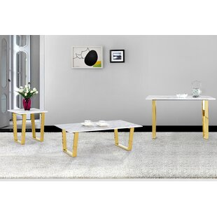 Willa Arlo Interiors Germana 3 Pieces Coffee Table Set