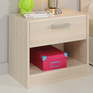 Demeter 1 Drawer Nightstand by Zoomie Kids
