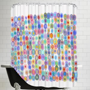 Dots A Gogo2 Shower Curtain