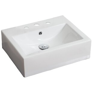 Affordable Ceramic 21 Wall Mount Bathroom Sink with Faucet and Overflow By American Imaginations