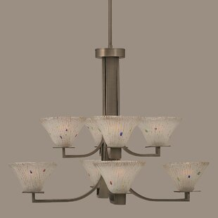 Winston Porter Weatherly 8-Light Shaded Chandelier