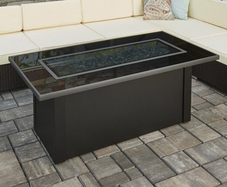 The Outdoor Greatroom Company Monte Carlo Metal Gas Fire Pit Table