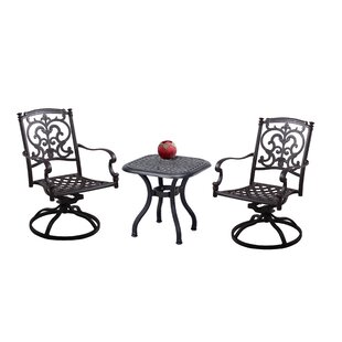 Palazzo Sasso 3 Piece Conversation Set With Cushions by Astoria Grand Coupon