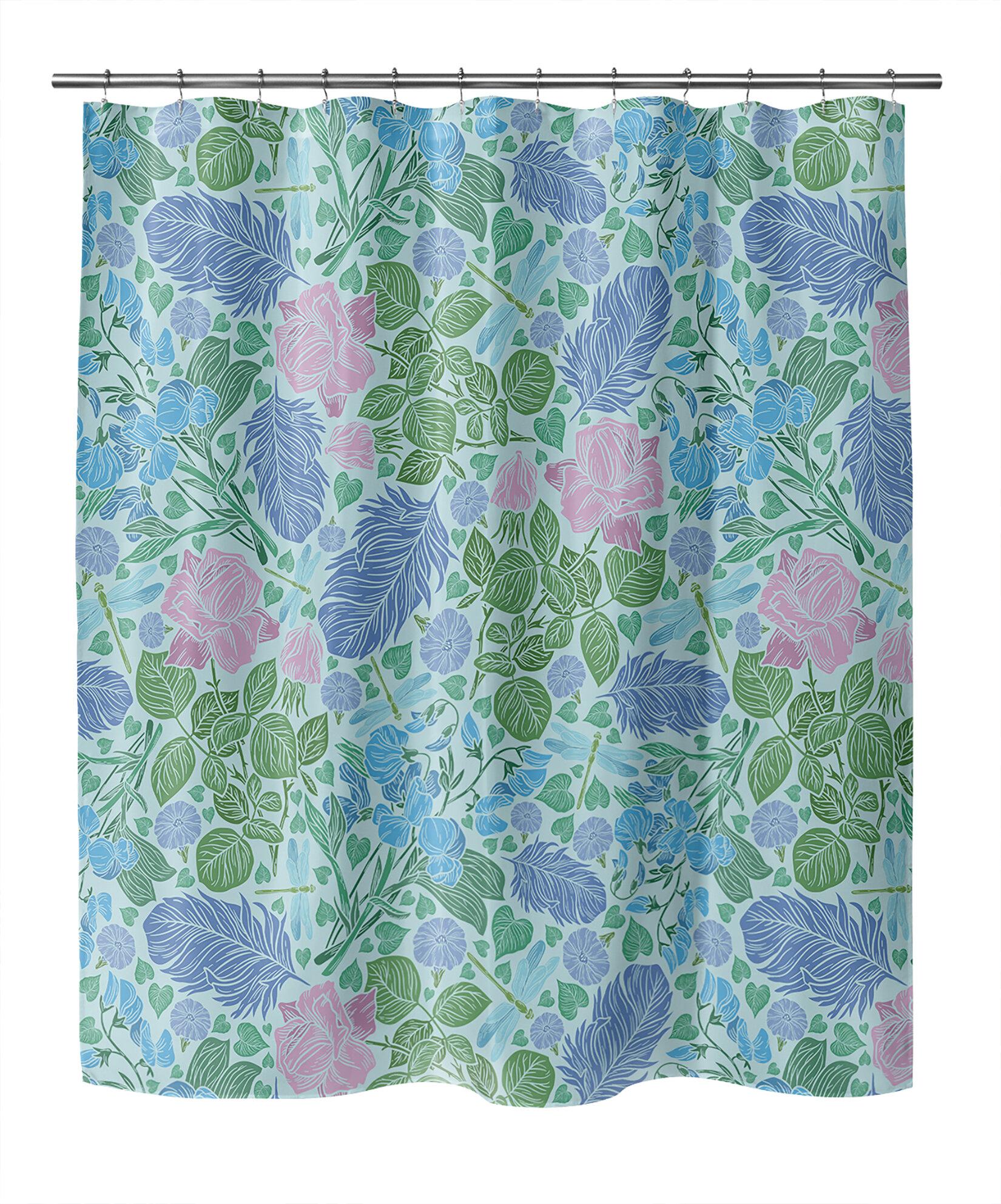 Winston Porter Abra Floral Shower Curtain Wayfair