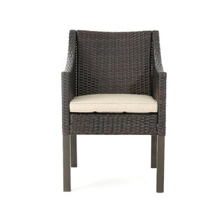 Mchugh Wicker Patio Dining Chair with Cushions by Ivy Bronx