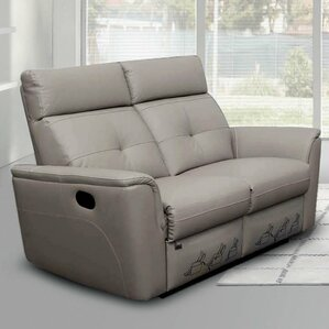 Alexia Leather Reclining Loveseat by Latitud..