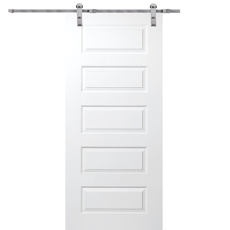 Manufactured Wood Rockport Paneled Barn Door without Hardware