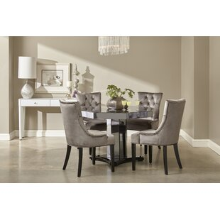 Brocklesby Smoked Mirrored Octagon Dining Set