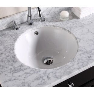 Buying Ceramic Circular Undermount Bathroom Sink with Overflow By Royal Purple Bath Kitchen