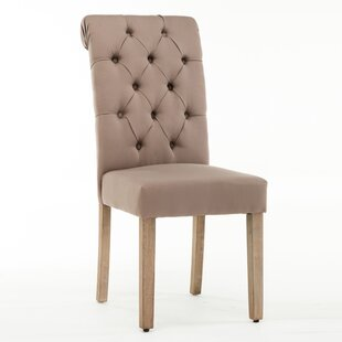 Buy luxury Bushey Roll Top Upholstered Dining Chair (Set of 2) by Lark Manor