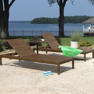 Panama Jack Outdoor St Barths 3 Piece Chaise Lounge Set