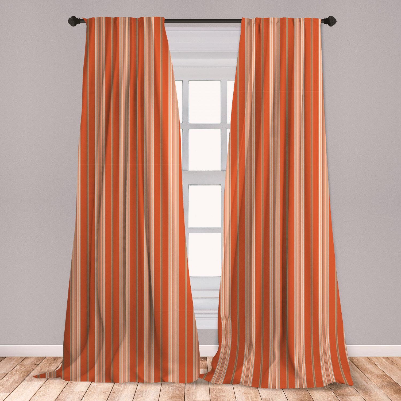 East Urban Home Striped Room Darkening Rod Pocket Curtain Panels Wayfair