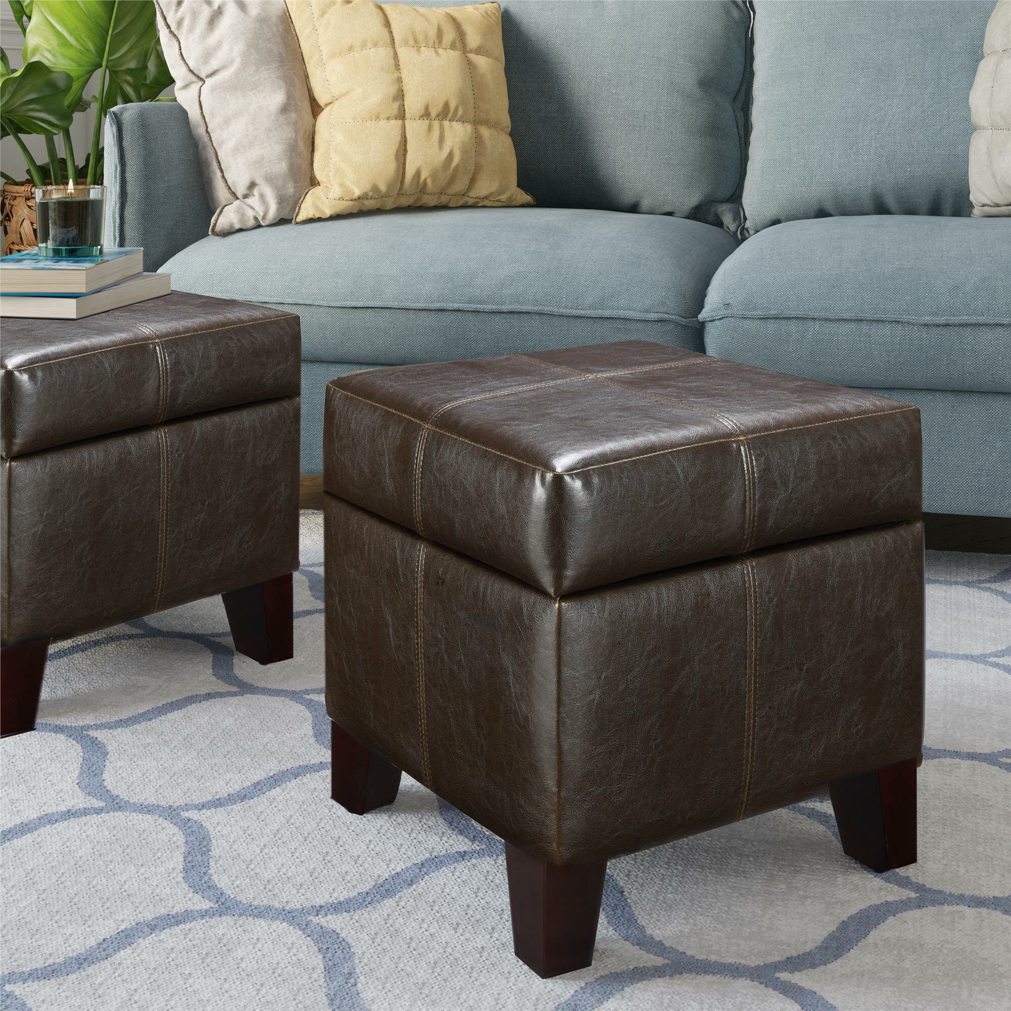 Faux Leather Storage Ottomans Under 100 You Ll Love In 2021 Wayfair
