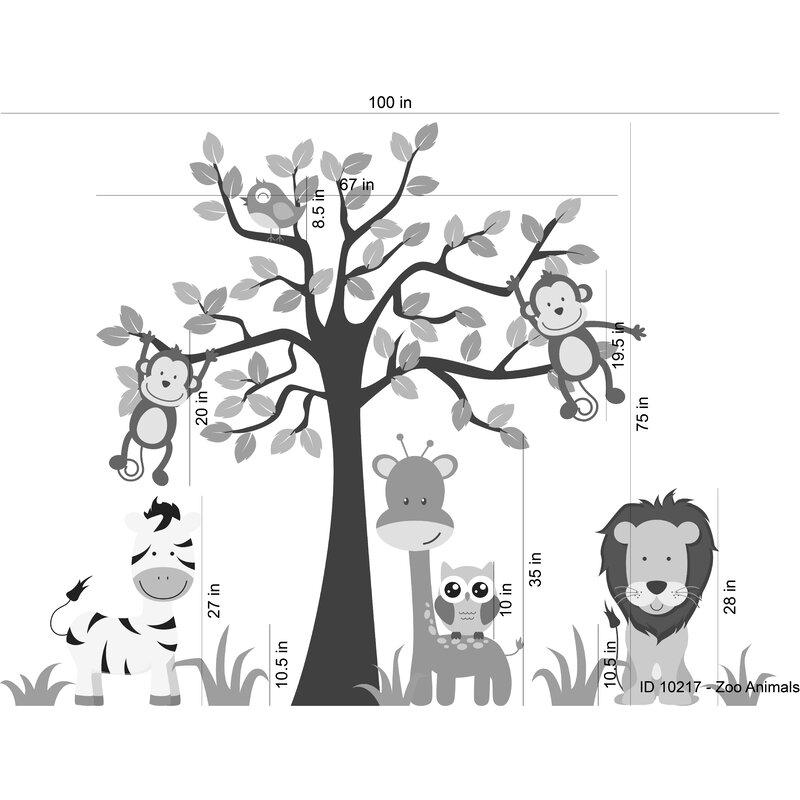 Nursery Jungle Tree Giraffe and Safari Wall Decal  sc 1 st  Wayfair & Wall Decal Source Nursery Jungle Tree Giraffe and Safari Wall ...