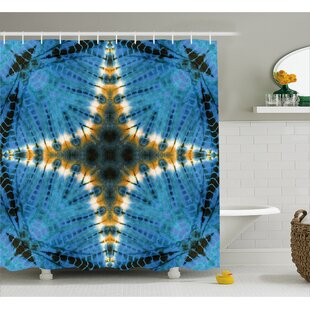 Great deal Aucheys Tie Dye Star Figure Shower Curtain By World Menagerie