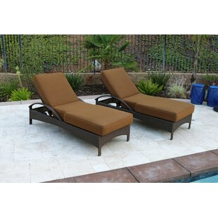 Latitude Run Meena Double Sun Lounger Set Group with Cushion