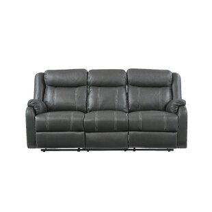 Morphew Drop Down Table and Drawer Reclining Sofa by Winston Porter