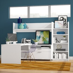 Heyworth L-Shape Executive Desk with Hutch and Bookcase