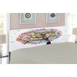 Tree of Life Upholstered Panel Headboard by East Urban Home