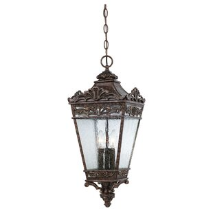 Review Close 3 Light Outdoor Hanging Lantern