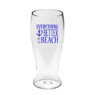 38f493a61646 Rabia Everything Is Better at the Beach Ever Drinkware 20 oz. Plastic Pint  Glass