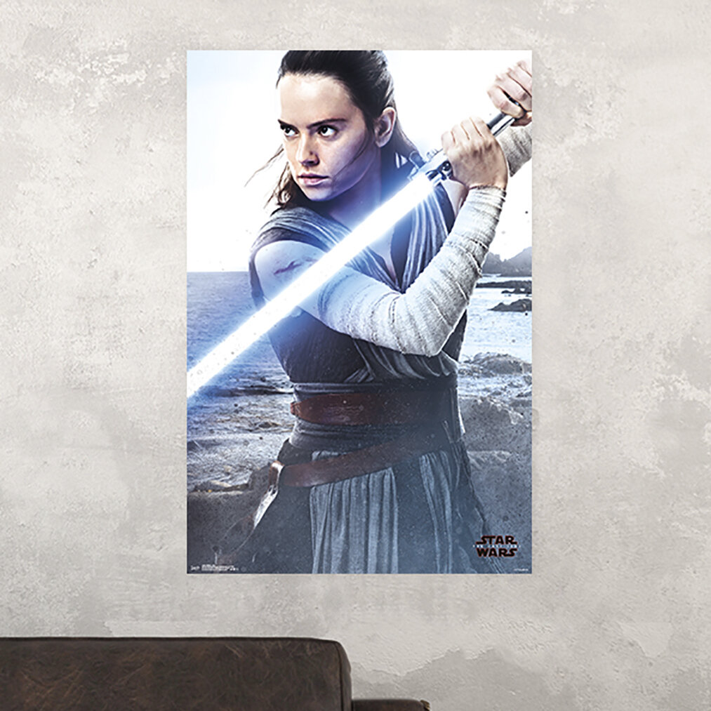 REY Poster Star Wars Force Awakens Quality FREE P+P CHOOSE YOUR SIZE Large