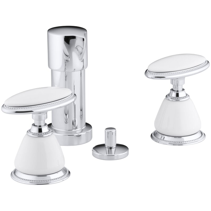 Kohler Antique Vertical Spray Bidet Faucet With Oval Handles Requires Ceramic Handle Insets And Skirts Wayfair