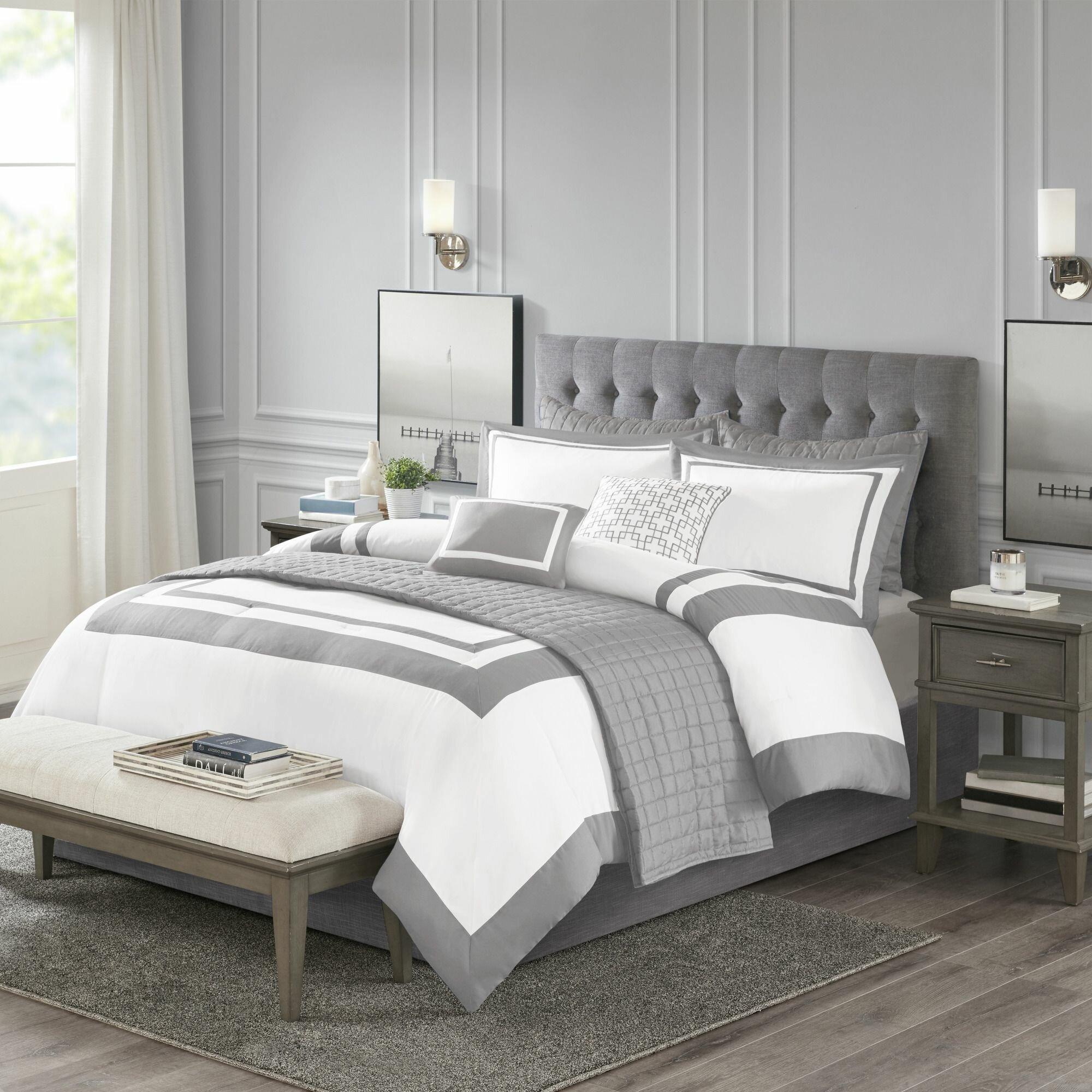 Canora Grey Baucom Patchwork 8 Piece Comforter Set Reviews Wayfair