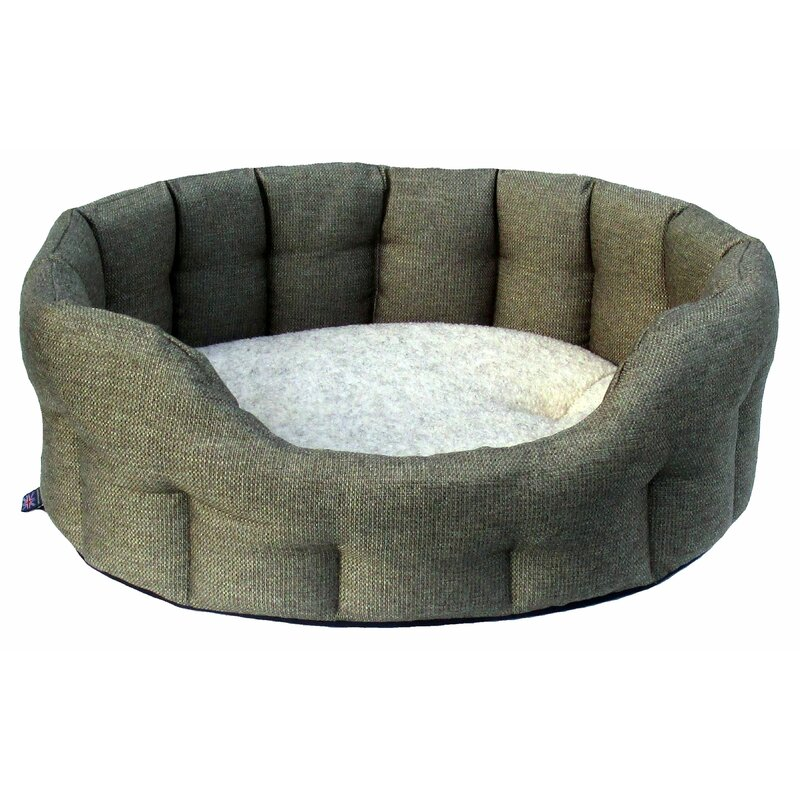 Oval Basket Weave Softee Dog Bed