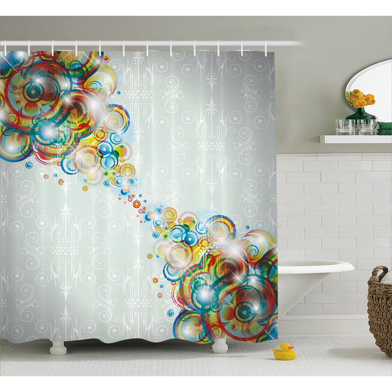 """Abstract Gradient Rainbow Colors Design Waterproof Fabric Shower Curtain Set 72/"""""""