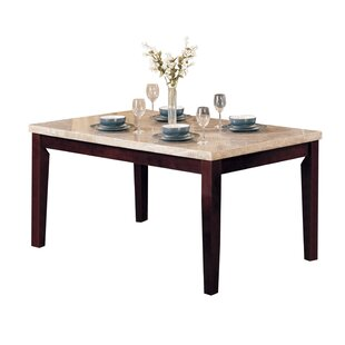 Mathieson Wooden Rectangular Dining Table by Winston Porter Comparison