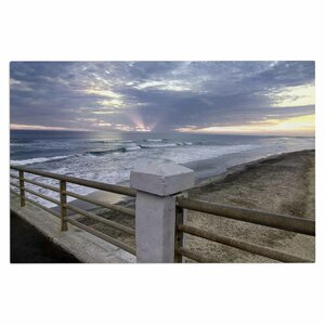 'Oceanside Pier at Sunset' Coastal Photography Decorative Doormat