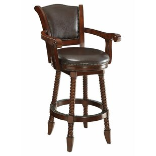 Betts Rope Twist Wooden 29 Bar Stool DarHome Co