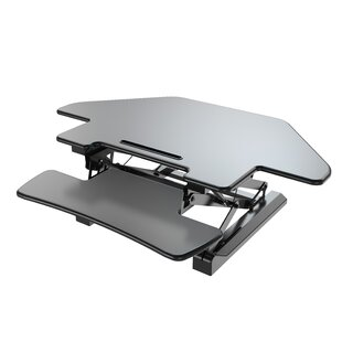 Kelm Sit to Stand Tabletop Cubical Riser Workstation Standing Desk Converter by Symple Stuff