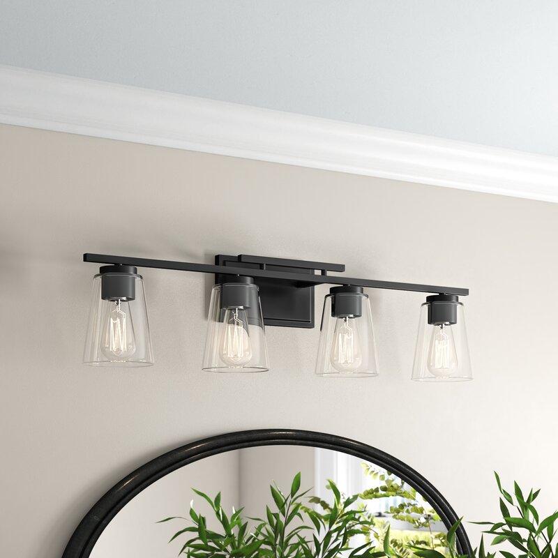 Three Posts Averi 4 Light Dimmable Vanity Light Reviews Wayfair
