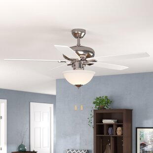 Bargain 52 Redfern Indoor 5 Blade Metal Body Ceiling Fan with Remote By Andover Mills