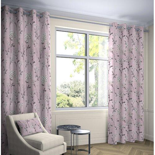Precita Blackout Eyelet Thermal Curtains Fleur De Lis Living