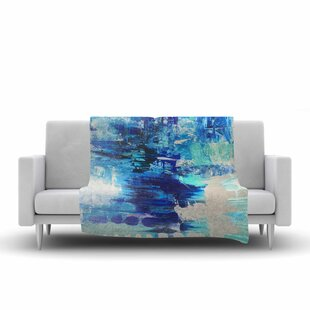 Coupon Geordanna Fields Walked on Water Abstract Fleece Blanket By East Urban Home