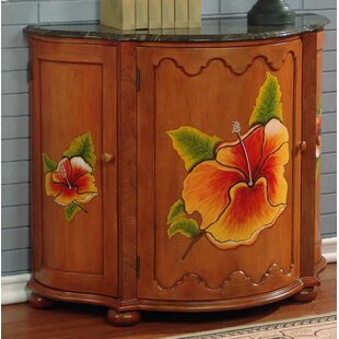 Bay Isle Home Spiers Hand-Painted Swivel Front Bar 3 Door Accent Cabinet