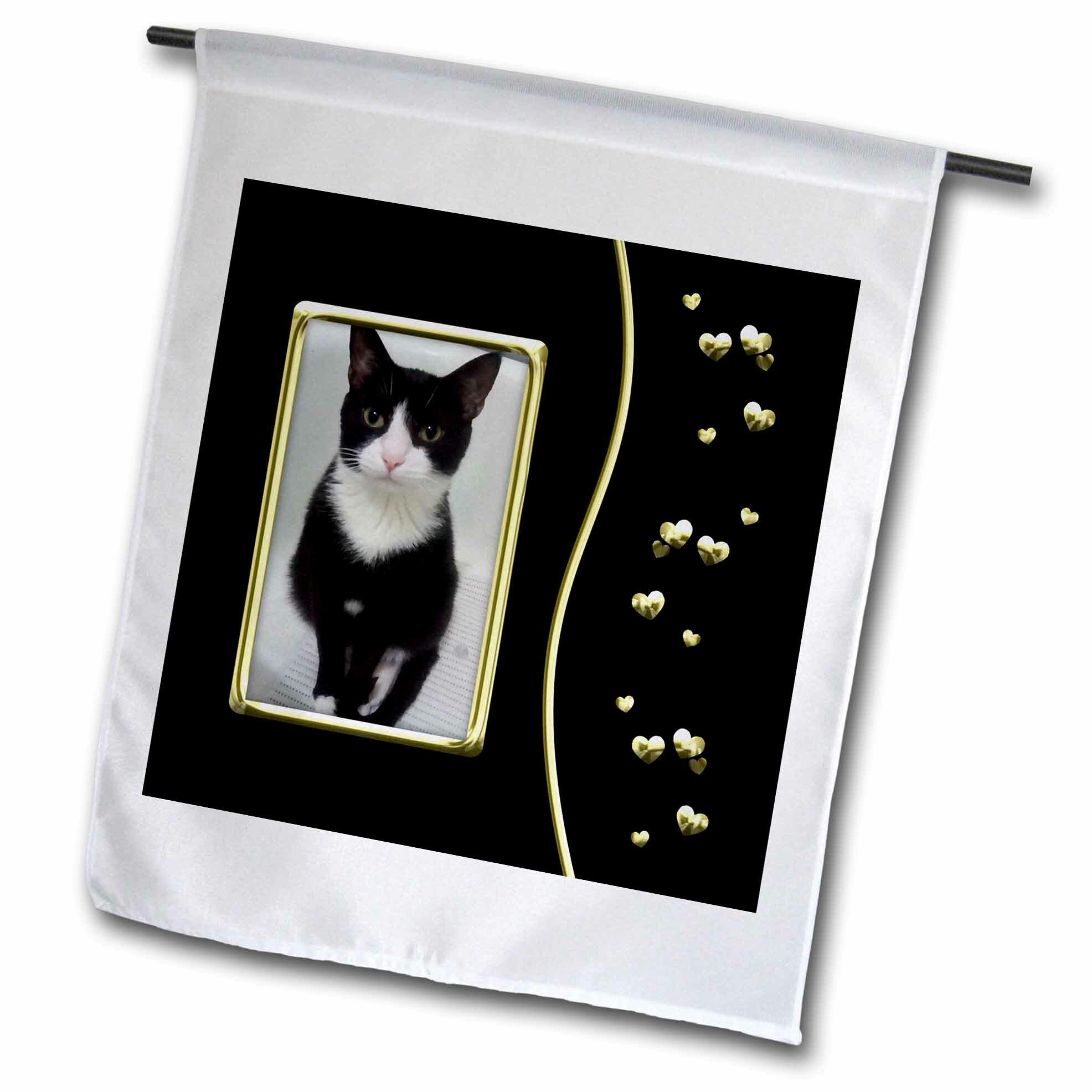 3drose Cute Tux Cat Lovers Polyester 18 X 12 In Garden Flag Wayfair